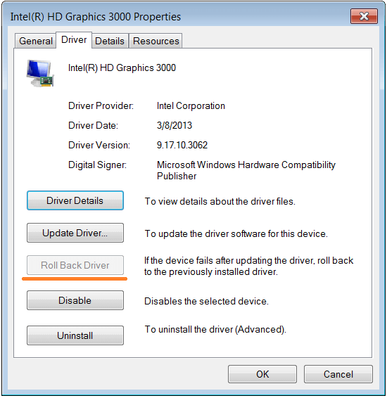 Safe Mode - Device Manager - Properties - Rollback Driver - 2 - WindowsWally