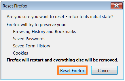 Troubleshooting Information - Reset Firefox 2 - WindowsWally