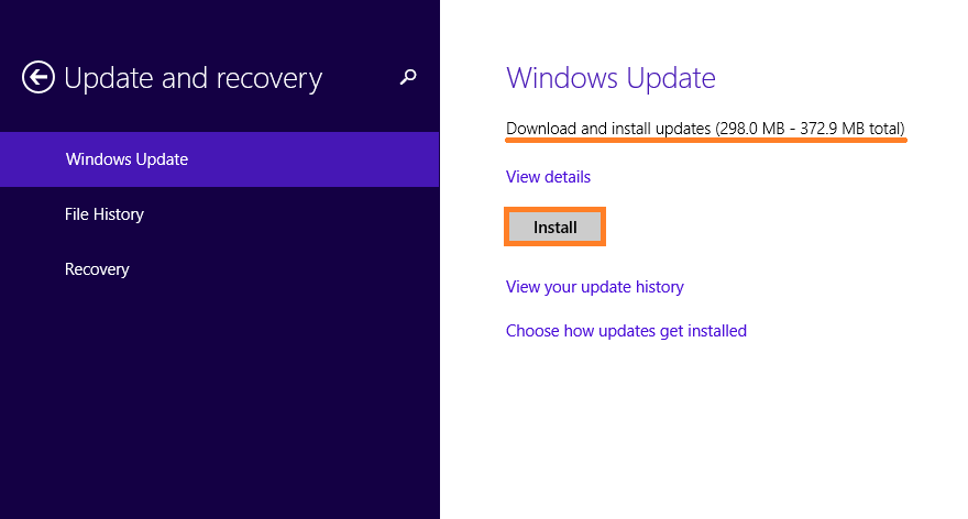 low disk space - Windows Update - Check for Updates - Install - 2 - WindowsWally