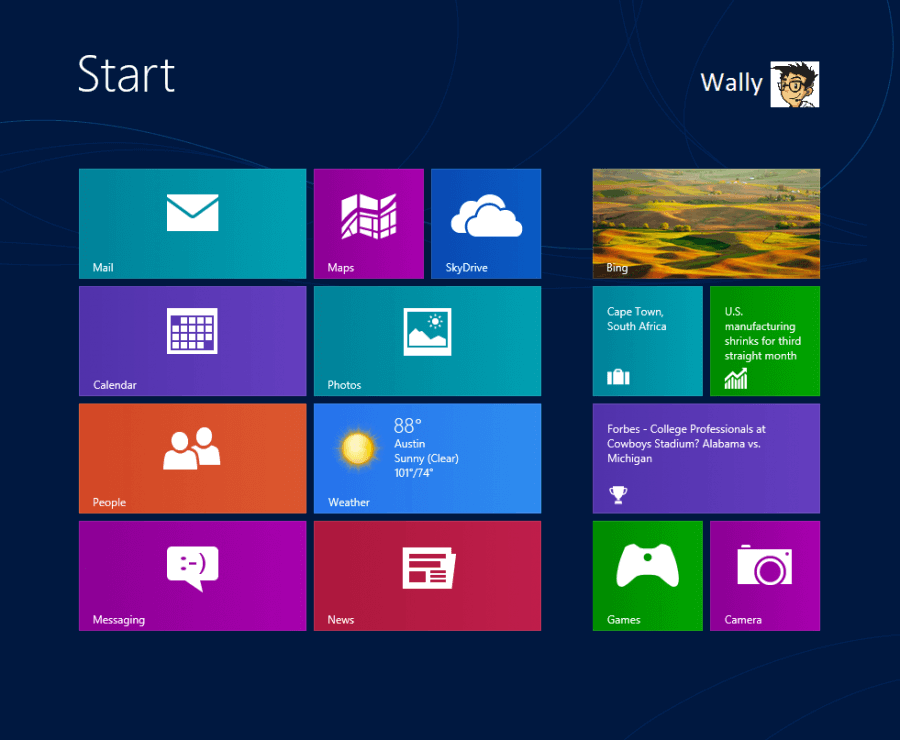 Install Windows 8 - 5 -  Metro Screen - WindowsWally