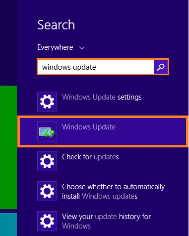 KB2770917 -- Metro search - Windows update - Windows Wally