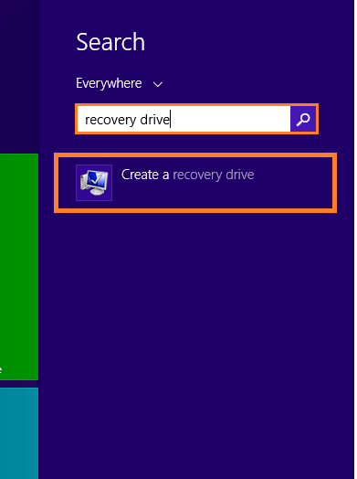 Safe Mode - Metro Search - Create a recovery drive -- Windows Wally