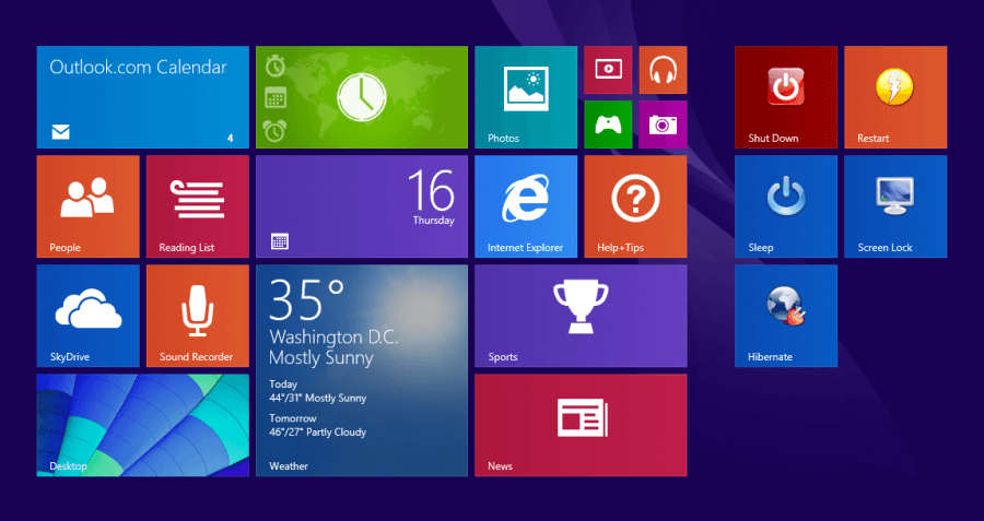 Windows 8 Power Buttons - Power Button icons 2 -- Windows Wally