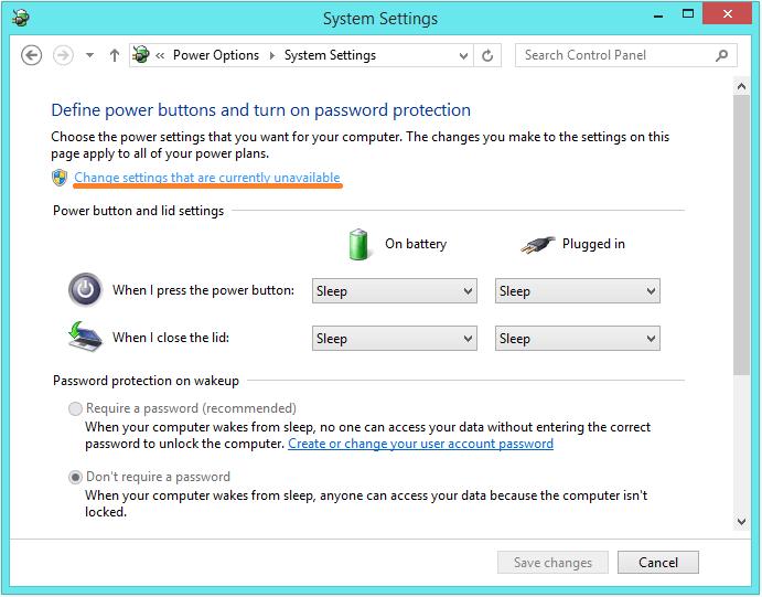 Windows 8 Shut Down - control panel - power options 2 -- Windows Wally