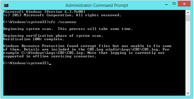 CONFIG_LIST_FAILED - STOP 0x00000073 - Command Prompt Administrator - sfc -- Windows Wally