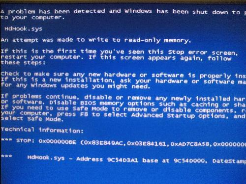 Attempted_write_to_readonly_memory - Cover - BSoD -- Windows Wally