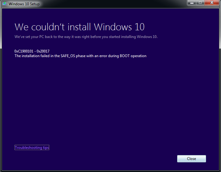0xC1900101 - Cover - Windows update Error -- Windows Wally