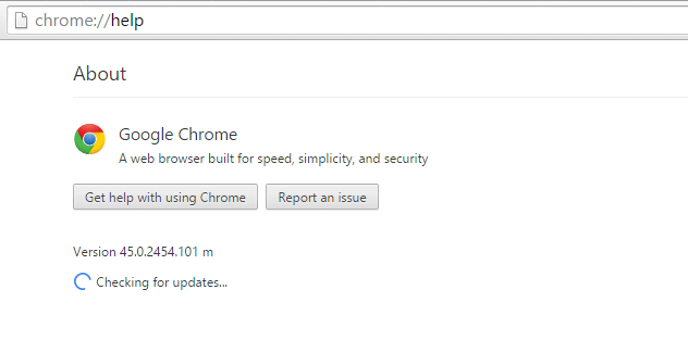 Black Video - Google Chrome - Help - About - Check for updates -- Windows Wally