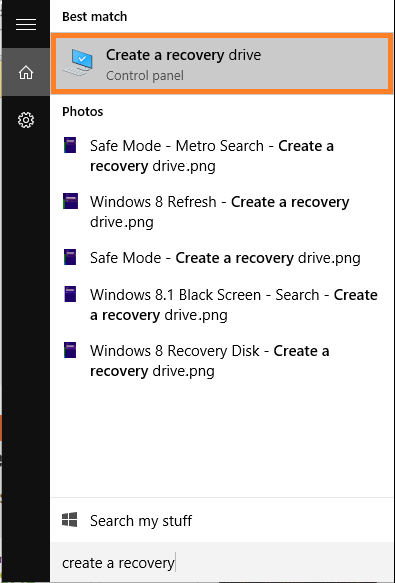Windows 10 - Safe Mode - Create a recovery drive - Windows Wally
