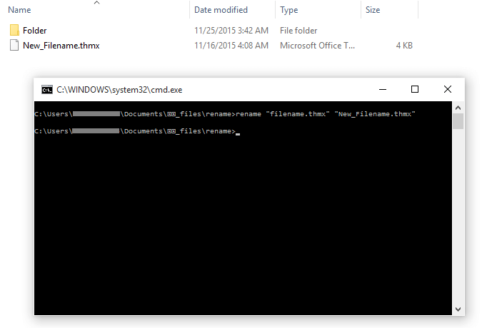 Windows 10 - Rename - Command Line - After -- Windows Wally