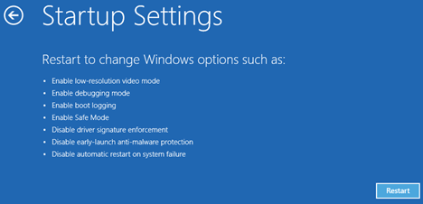 0xc000021a - Windows 10 - Startup Settings -- Windows Wally