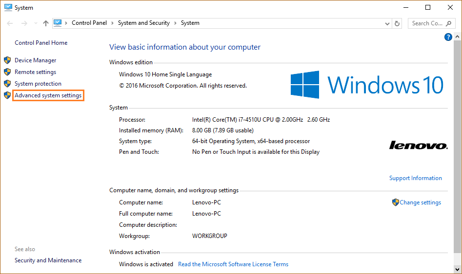 0xC0000428 - System - Advanced System Settings - Windows Wally