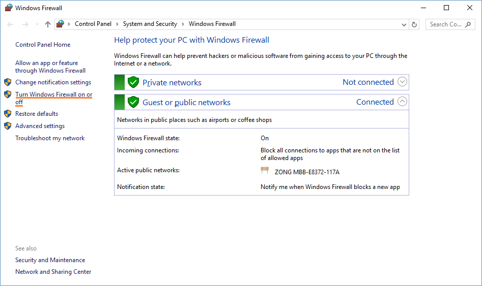Windows Firewall Won't Turn Off in Windows 10
