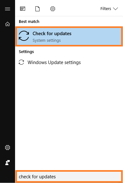 0x80070422 -- Windows 10 CU - Start Menu - Check for updates - Windows Wally