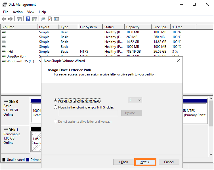 Disk manager -- format SD card - 4 - Windows Wally