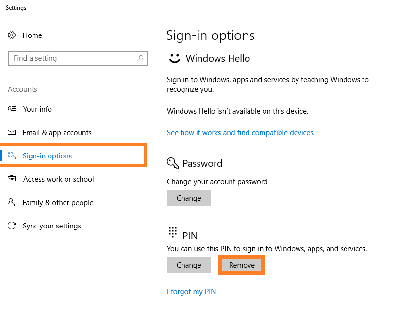 0x8009002d - Windows 10 - Set up PIN sign-in - Remove - Windows Wally