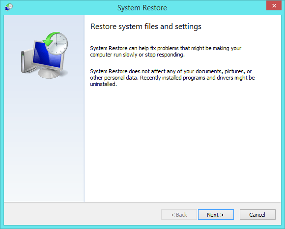 Booting in Safe Mode Minimal - System Restore -- Windows Wally