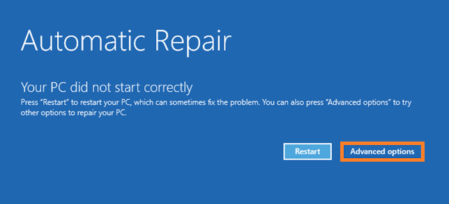 Safe Mode -- Windows 10 - Automatic Repair - Advanced options - 2 - Windows Wally